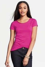 Banana Republic Luxe-Touch Piped Tee