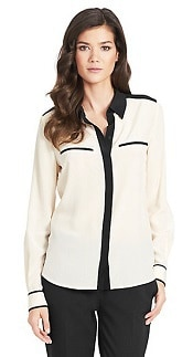DvF Marah Two-Toned Silk Blouse