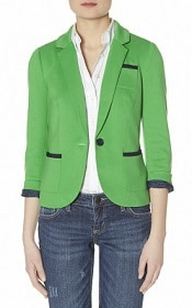 Limited Trimmed Ponte One Button Blazer