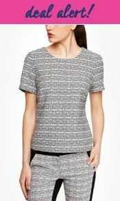 Express Short Tweed Structured Top (and: Express's Semi-Annual Sale!)