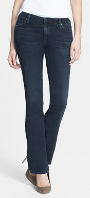 'Angelina' Slim Bootcut Jeans | Corporette