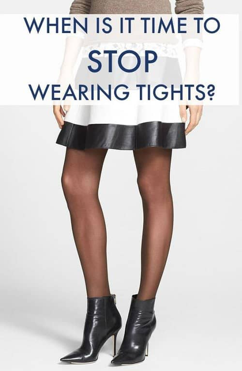 When Is It Time to Stop Wearing Tights and Boots?
