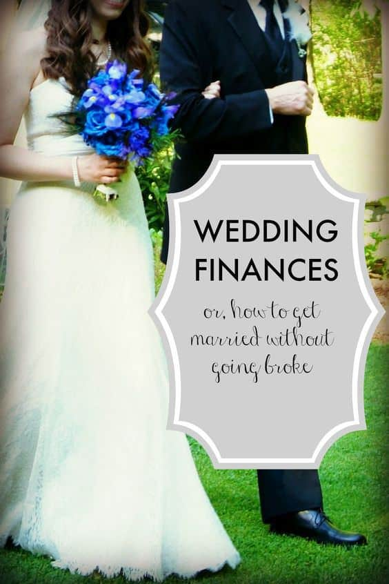 Wedding finances and wedding budget tips - great advice from professional working women on how to deal with financial aspects of getting married!