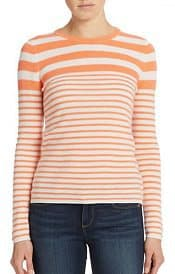Lord Taylor Striped Cashmere Sweater