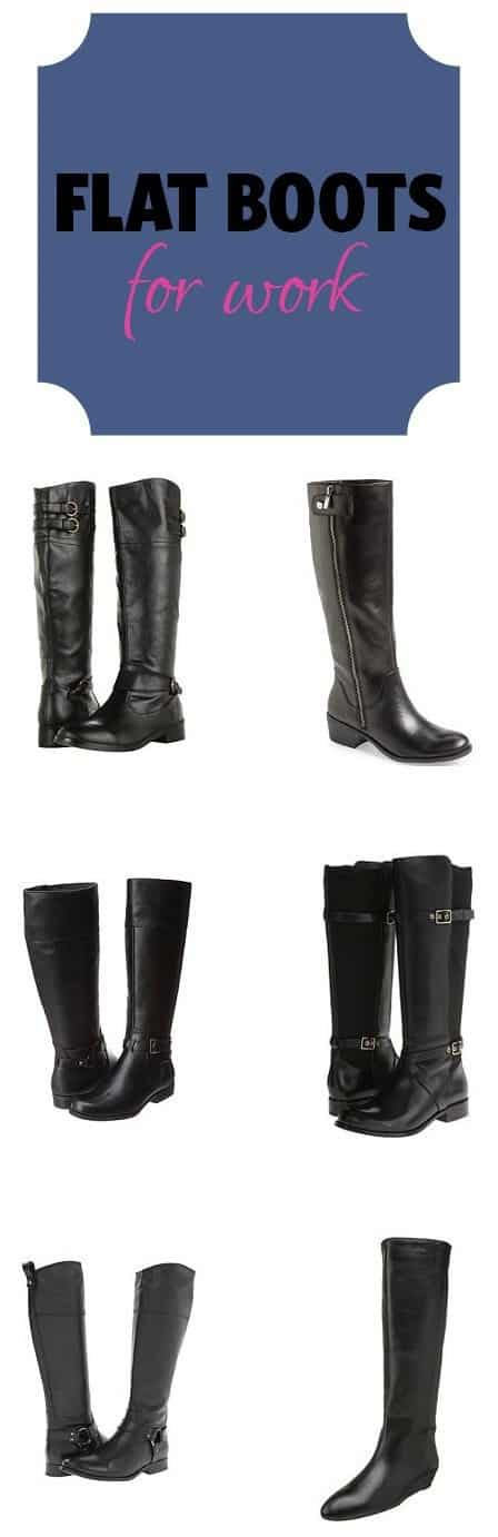 flat knee high boots for work 2