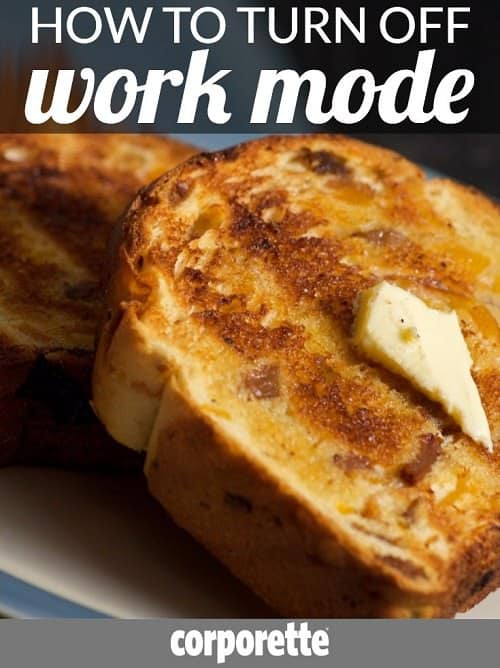 It can be really tough for women lawyers, executives, and others to turn off work mode when they come home -- and there was an interesting video from Marie Forleo describing her own method of thinking of toast -- so we talked about it. Great discussion with the readers!
