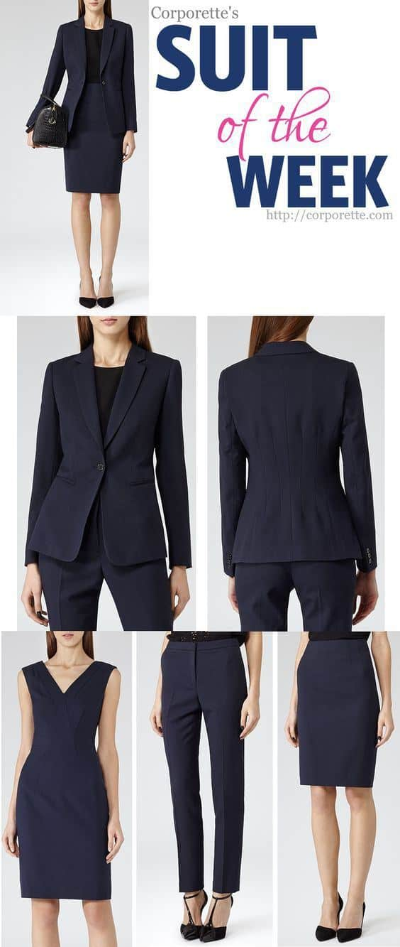 classic navy skirt suit!