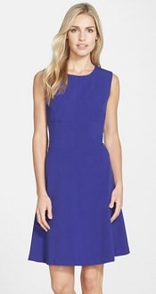 Marc New York by Andrew Marc Woven Fit & Flare Dress | Corporette