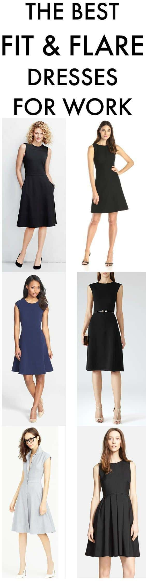 fit flare dresses for work