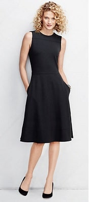 Land's End Ponté A-line Dress