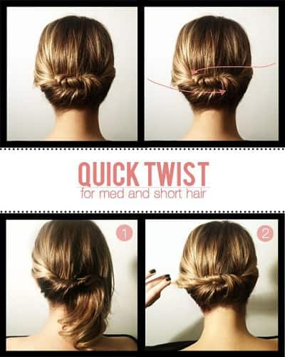 12 Easy Office Updos Buns Chignons More For Busy For Professionals