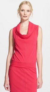 Gaultier Cowl Neck Tulle Tank