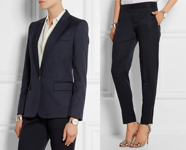 tapered pants suit