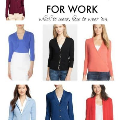 The Corporette Guide to Stylish Cardigans for the Office