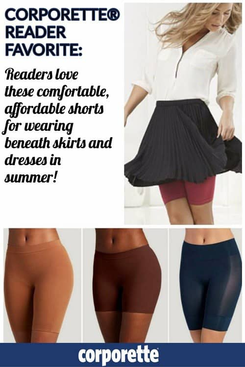 Corporette® readers LOVE these comfortable, affordable shorts to wear beneath skirts and dresses in the summer. Curious why? Click through to see the rave reviews.
