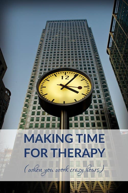 When you're working crazy hours, making time for therapy can feel impossible -- but keeping standing appointments and tending to your self care is very important! We round up tips from readers in demanding jobs (like women lawyers) what their best advice is in how to make time for therapy -- when you work crazy hours.