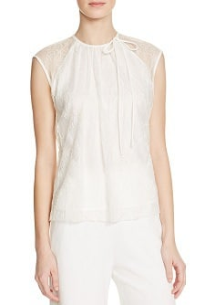 Lace Top for Work: Sandro Epply Lace Top