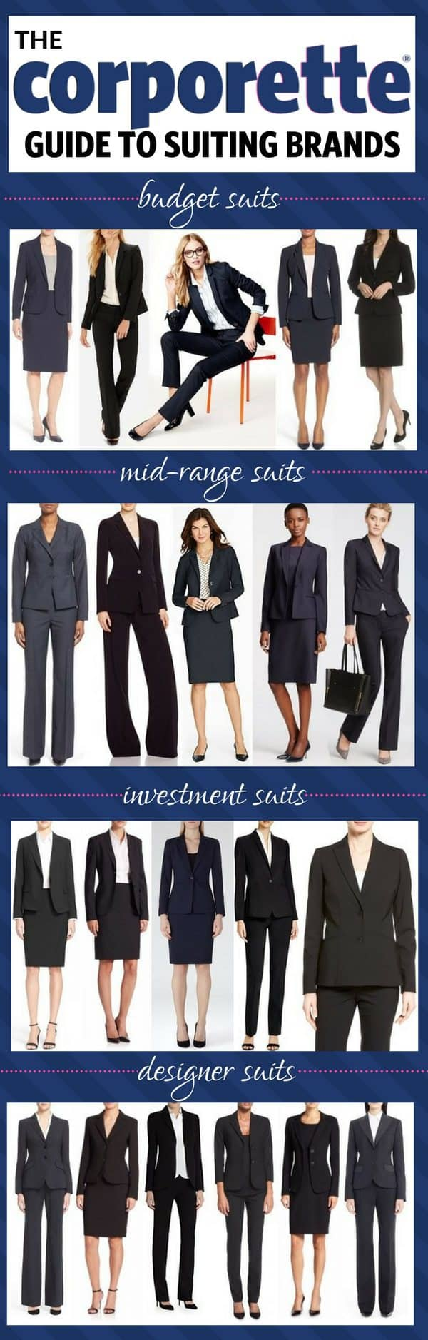 Suits for Women: A Guide to the Best Suiting Brands for Women, from Budget Suits to Designer Suits | Corporette