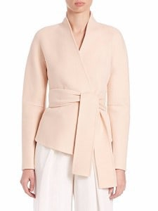 Cashmere Coat: Donna Karan Felted Cashmere Wrap Coat