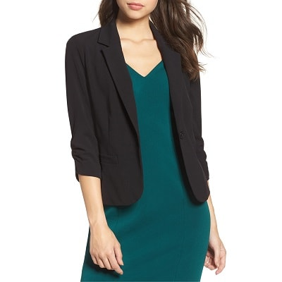 Workwear Hall of Fame: Ruched Sleeve Blazer