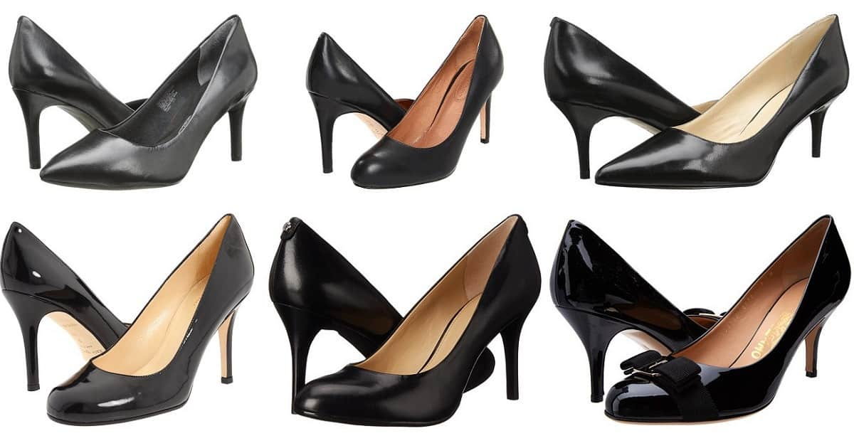 25 comfortable black pumps for work