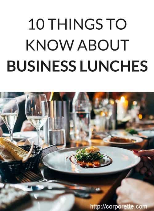 business lunch tips