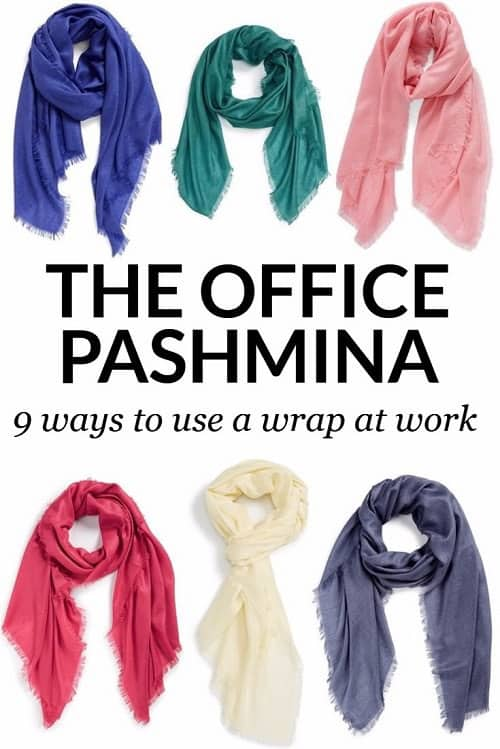 office pashmina - 9 ways to use a wrap at work