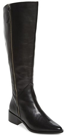 pointy toe knee high boot for work