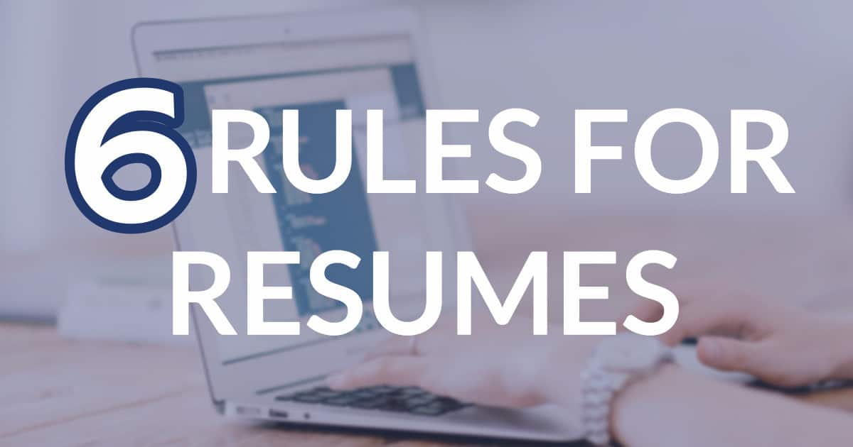 new rules for resumes in 2017 - Resume Rules