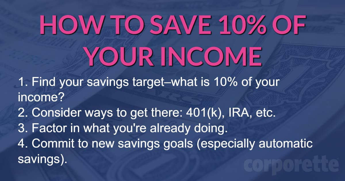 How to save 10 percent of your income