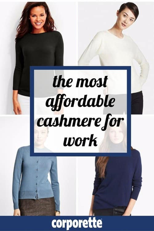 the most affordable cashmere for work