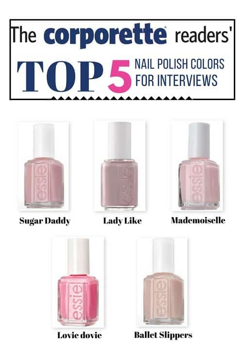 nail polish colors for interviews - clean and classic!
