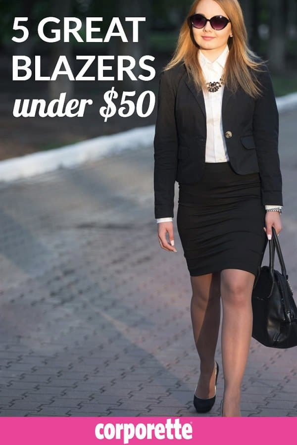 5 Great Blazers Under $50 - Great if you're building a work wardrobe for your internship, preparing to be a summer associate, or just want to add an affordable, lightweight blazer to your wardrobe!