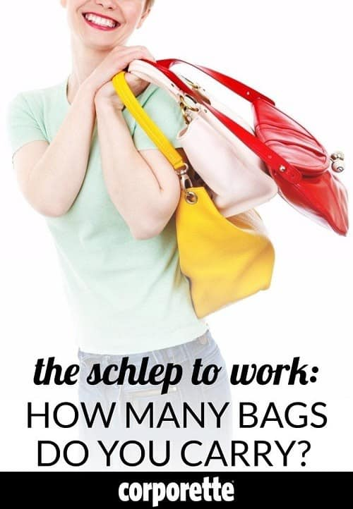 78d5471fdb39 How Many Bags Do You Bring to Work (And  What Does Your Schlep Look Like )