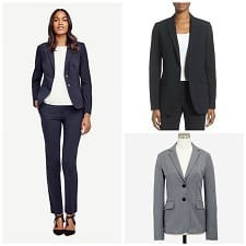 budget friendly interview suits for women