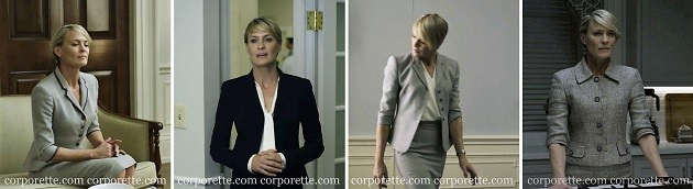 how to get Claire Underwood style: wear skirt suits