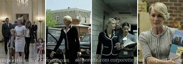 how to get Claire Underwood style: wear black and white