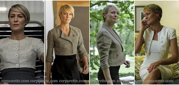 how to look like Claire in House of Cards: choose cropped jackets