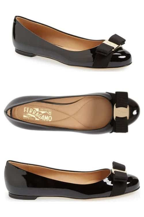 This comfortable flat from Ferragamo is loved by readers and has been around for years!