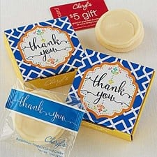 LOVE this idea - you can gift single cookies and personalize them as thank you/birthday gifts!