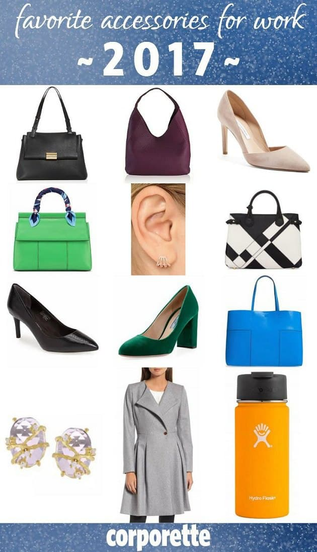 Presenting... some of our very favorite accessories for work from our recommendations in 2017! These are Kat's favorites from the bags for work, shoes for the office, and other jewelry pieces and desk accessories we recommended. Which were your favorites?