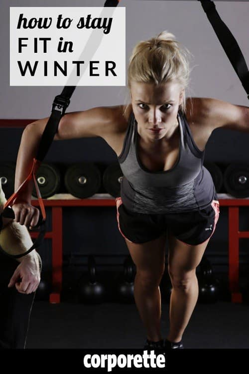 Wondering how to stay fit in winter? After all, so many professional women prefer running or outside things like hiking, but what are your favorite ways to stay fit if it's too cold, slushy, or slippery to go outside? What if you can't motivate to get to CrossFit or OrangeTheory if it's too cold? We rounded up some favorites for exercise, and asked the readers what they're into now.