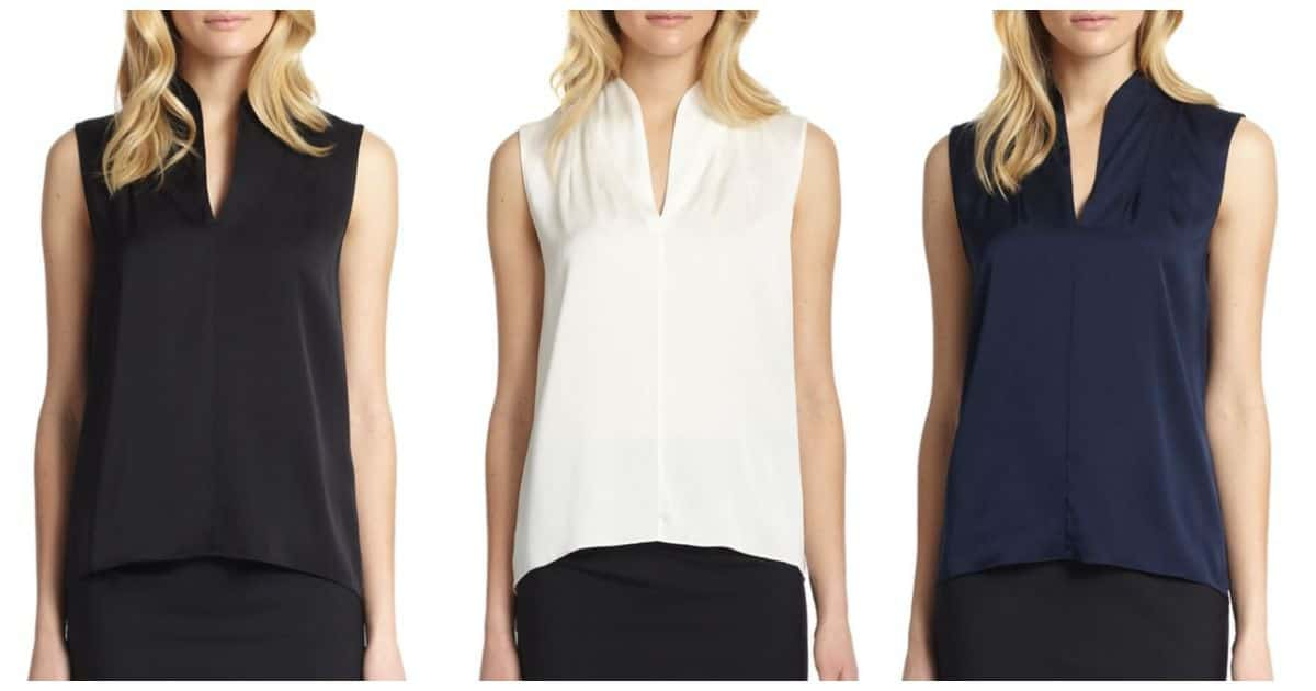judith silk blouse - great sleeveless silk top!