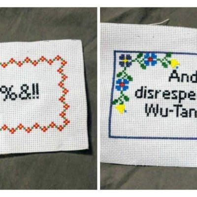 Arts and Crafts for Stress Relief: Subversive Cross Stitch