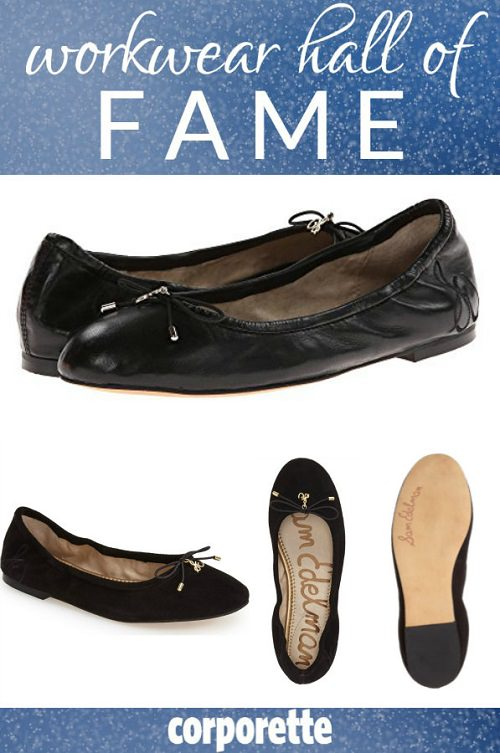 Hunting for a comfortable ballet flat for work? This affordable shoe is a reader favorite -- it's got a zillion great reviews, and keeps coming out in new colors and fabrics every year!