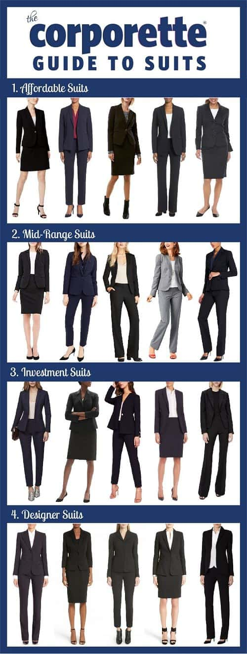 best women's suits 2018 - affordable, mid-range, and designer suits for women -- great for stylish interview outfits, courtroom attire, or other career-making moments!
