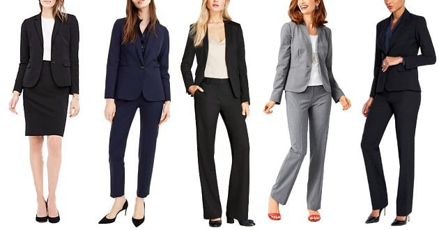 best women's suits of 2018: mid-range suits for women lawyers and stylish interview outfits for the professional woman
