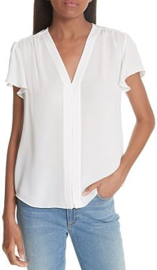 simple, perfect silk white top for work