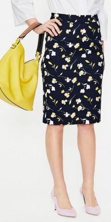pencil skirts for work in fun prints: Boden