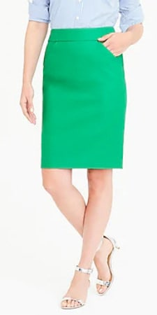 pencil skirts for work - No. 2 doubleserge cotton J.Crew